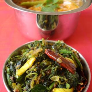 Thotakura Vepudu ~ Amaranth Leaves Stir Fry (3) Recipe