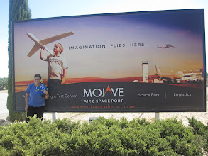 Photo: With Annie at the Mojave Air & Space Port