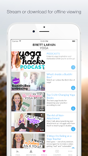 Brett Larkin Yoga- screenshot thumbnail