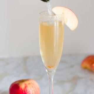 Two Ingredient Apple Cider Mimosas