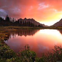 Photo: A brilliant sunset above Animas Mountain deep in the Weminuche Wilderness, August.