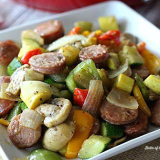 Chicken and Apple Sausage Vegetable Skillet