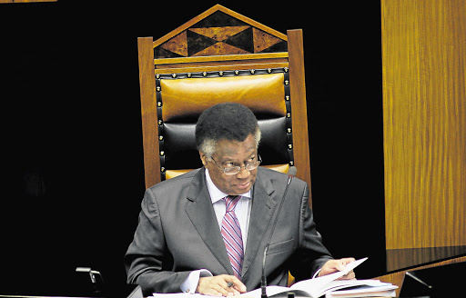 Speaker of the National Assembly Max Sisulu. File photo.