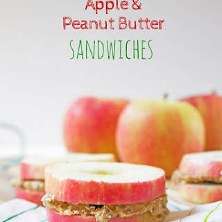 Apple and Peanut Butter Sandwiches.