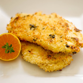 Clemen-Thyme Baked Chicken Cutlets.
