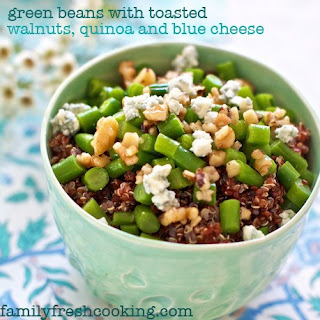 Green Beans with Toasted Walnuts and Quinoa.