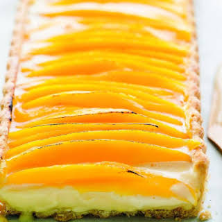 Mango And Lemongrass Tart With Coconut Pastry.