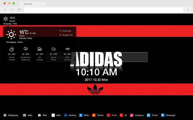 Adidas Popular Brands HD New Tabs Themes