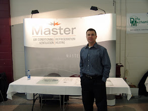Photo: Mark Gall looking dashing in front of the Master desk