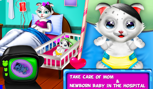 My Kitty NewBorn Baby And Mommy Care : Kitty Grown Screenshot