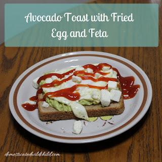 Avocado Toast with Fried Egg and Feta Recipe