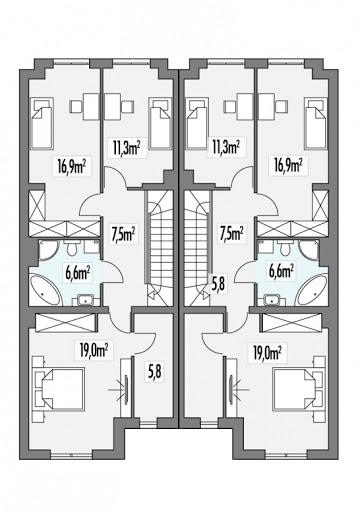 Konrad bliźniak L+LL - Rzut piętra