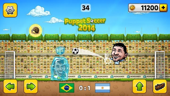 ⚽Puppet Soccer 2014 - Big Head Football 🏆 Android App Screenshot
