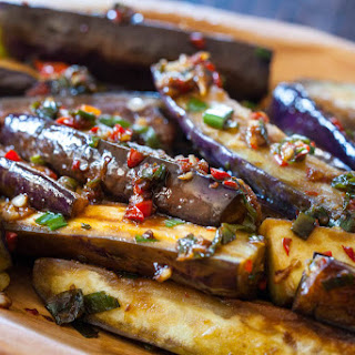 Chinese Eggplant with Spicy Garlic Sauce.