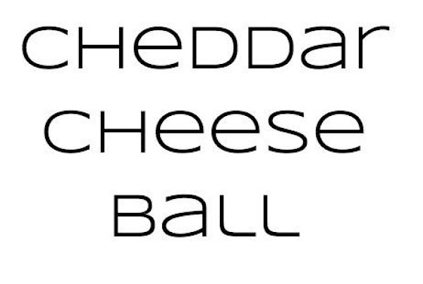 Cheddar Cheese Ball Recipe