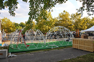 Photo: Putting the finishing touches on dome 2