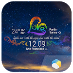 Rainbow Love theme widget 4.8.2.b_release Apk