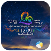 Rainbow Love theme widget