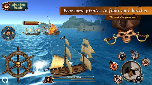 Screenshot 1 Ships of Battle: Ages of Pirates -Wars 'n Strategy 2.5.0 APK+DATA MOD