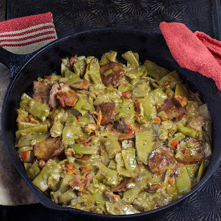 Creole Smothered Green Beans with Andouille Sausage