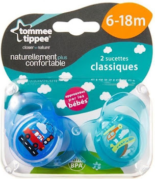 Tommee Tippee Closer to Nature Soother - 2 Orthodontic Soothers