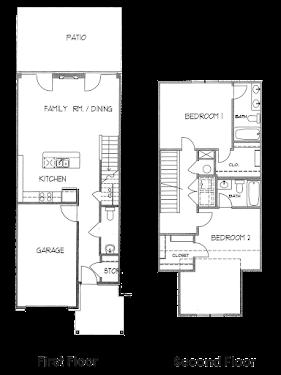 Muskwood Townhome Floorplan Diagram