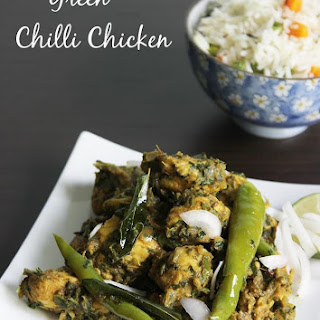 Andhra Green Chilli Chicken