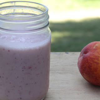 Dairy-Free Strawberry Peach Smoothie.