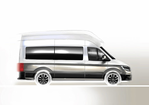 A sketch of the new Volkswagen California XXL camper van. Picture: NEWSPRESS UK