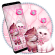 Lovely Cute pink Cat Theme