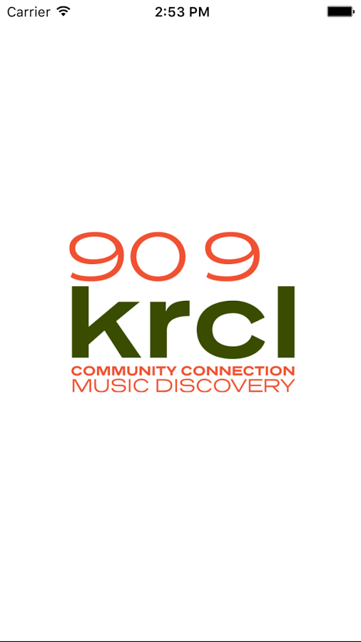 KRCL Public Radio App- screenshot