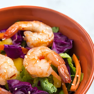 Chopped Asian Salad with Sweet Chili Glazed Shrimp