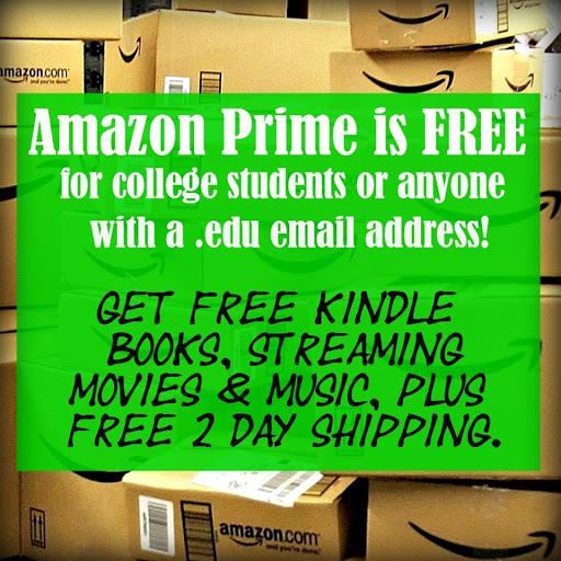 FREE 6 months of Amazon Prime.