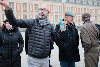 Photo: There he is now - our guide to the Palace of Versailles