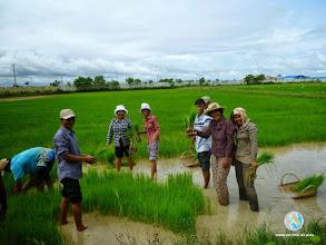 Photo: Happy Smart Farmers - CFPAR for Takeo province farmers , Lvea Village, Ang Popel commune, Korng Pisey district, Kampong Speu province (28-29 Aug2014)