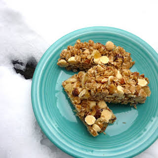 Ginger & White Chocolate Granola Bars.