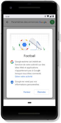 Vous permettre de contrôler votre expérience publicitaire Google