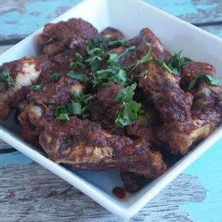 Slow Cooker Mole Chicken Wings.