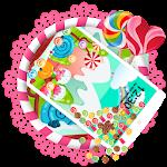 3D Sweet Cartoon Candy Gravity Theme Icon