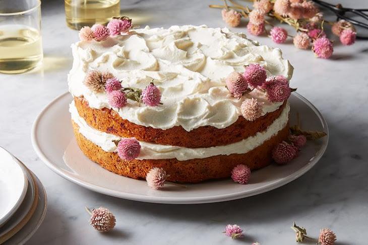 Carrot, Beet, & Parsnip Cake with Honey-Yogurt Frosting Recipe