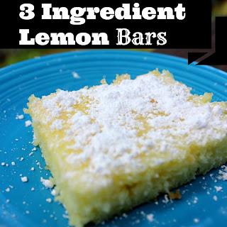 3 Ingredient Lemon Bars.