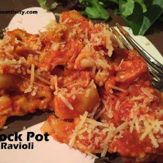 3 Ingredient Crock Pot Cheese Ravioli- MONDAYS ARE A CROCK.