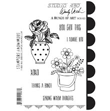 Wendy Vecchi Cling Stamps - A Bunch Of Art