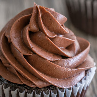 Best Chocolate Frosting! Whipped Chocolate Cream Cheese Frosting.