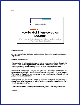 How to Get Interviewed on Podcasts - Speaker Notes