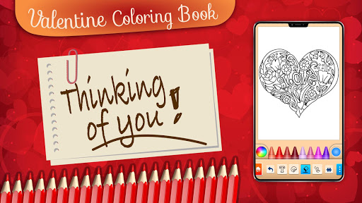 Valentines love coloring book filehippodl screenshot 22