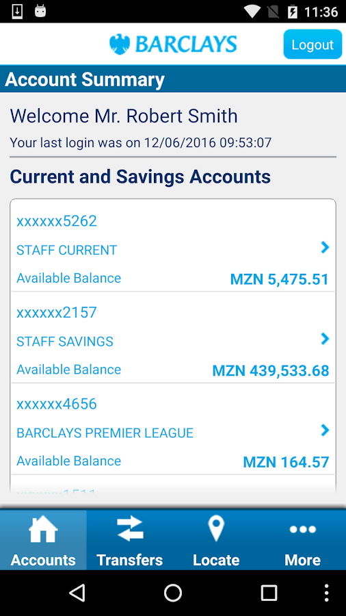Barclays Mozambique- screenshot