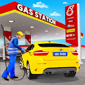 Gas Station Car Driving Simulator Car Parking Game icon