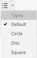 Bullet type menu