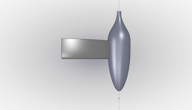 """Photo: Top view of proposed wheel pant.  The profile is from a Goldschmied paper from 1974, and is called the """"X-35"""""""